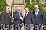 WELCOME: Senator Paul Coughlan welcomes the British Ambassador to Ireland Julian King outside Muckross House & Gardens, last Thursday, l-r: Pat Dawson, Chief Executive Muckross House, Senator Paul Coughlan, British Ambassador Julian King and Marcus Treacy, Chairman of Muckross House trustees.