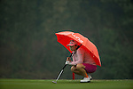 Min-Young Lee of South Korea plays at the 18th hole during Round 4 of the World Ladies Championship 2016 on 13 March 2016 at Mission Hills Olazabal Golf Course in Dongguan, China. Photo by Victor Fraile / Power Sport Images