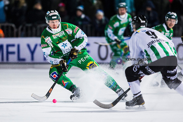 Stockholm 2013-11-22 Bandy Elitserien Hammarby IF - GAIS Bandy :  <br /> Hammarby Patrik Nilsson i aktion i matchen<br /> (Foto: Kenta J&ouml;nsson) Nyckelord: