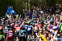 Picture by SWpix.com - 05/05/2018 - Cycling - 2018 Tour de Yorkshire - Stage 3: Richmond to Scarborough - The peloton goes up Cote de Sutton Bank