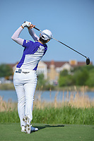 Sung Hyun Park (KOR) watches her tee shot on 9 during round 1 of  the Volunteers of America LPGA Texas Classic, at the Old American Golf Club in The Colony, Texas, USA. 5/5/2018.<br /> Picture: Golffile | Ken Murray<br /> <br /> <br /> All photo usage must carry mandatory copyright credit (&copy; Golffile | Ken Murray)