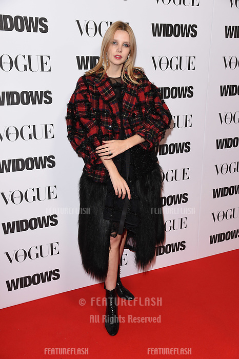 """LONDON, UK. October 31, 2018: Greta Bellamacina at the """"Widows"""" special screening in association with Vogue at the Tate Modern, London.<br /> Picture: Steve Vas/Featureflash"""