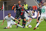 17.03.2019, BayArena, Leverkusen, GER, 1. FBL, Bayer 04 Leverkusen vs. SV Werder Bremen,<br />  <br /> DFL regulations prohibit any use of photographs as image sequences and/or quasi-video<br /> <br /> im Bild / picture shows: <br /> Karim Bellarabi (Leverkusen #38), im Zweikampf gegen  Milot Rashica (Werder Bremen #11), <br /> <br /> Foto © nordphoto / Meuter