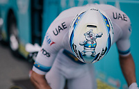 Alexander Kristoff's (NOR/UAE) very personal helmet design<br /> <br /> Stage 13: Bourg d'Oisans &gt; Valence (169km)<br /> <br /> 105th Tour de France 2018<br /> &copy;kramon