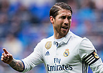 Sergio Ramos of Real Madrid reacts during their La Liga match between Real Madrid and Valencia CF at the Santiago Bernabeu Stadium on 29 April 2017 in Madrid, Spain. Photo by Diego Gonzalez Souto / Power Sport Images