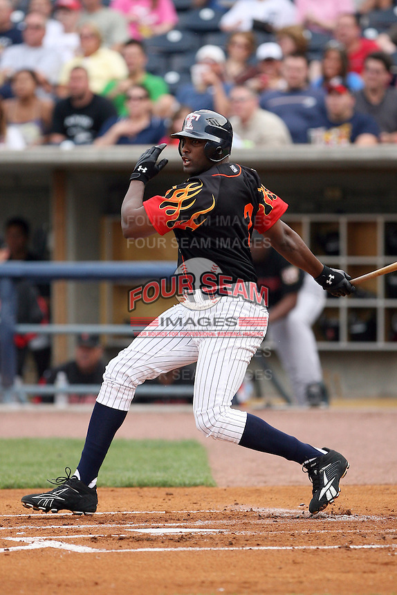 June 12th 2008: Fernando Seguignol of the Toledo Mudhens, Class-AAA affiliate of the Detroit Tigers, during a game at Fifth Third Field in Toledo, OH.  Photo by:  Mike Janes/Four Seam Images