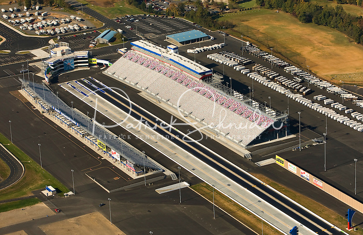 .Aerial view of the new zMax Dragway at Lowe's Motor Speedway in Concord, NC.