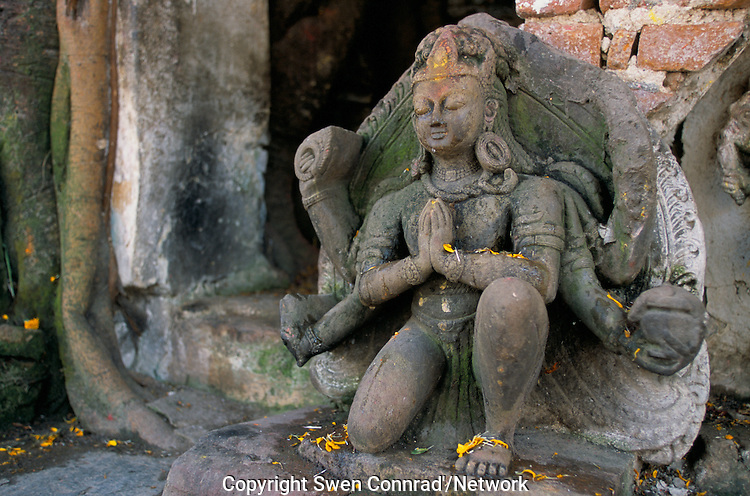 A Hindu God in Kathmandu City, Nepal