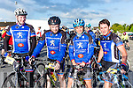 David Brosnan, pat McAulliffe, Elaine Collins and Paudie Healy enjoying the Pieta House cycle in Rathmore on Sunday
