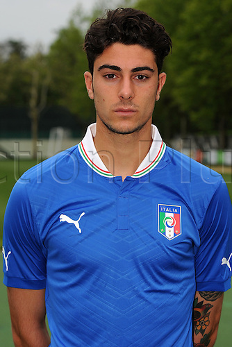 28.05.2013 Milanello, Italy. Paolo Frascatore U-21 Italy team official photo session for the UEFA Under-21 Championship (EURO) at Centro Tecnico Milanello.