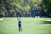 Scott Hend (AUS) hits his approach shot on 4 during round 2 of the World Golf Championships, Mexico, Club De Golf Chapultepec, Mexico City, Mexico. 3/3/2017.<br /> Picture: Golffile | Ken Murray<br /> <br /> <br /> All photo usage must carry mandatory copyright credit (&copy; Golffile | Ken Murray)