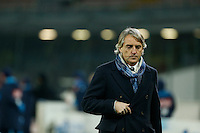 Roberto Mancini  during the Quartef-final of Tim Cup soccer match,between SSC Napoli and vFC Inter    at  the San  Paolo   stadium in Naples  Italy , January 20, 2016