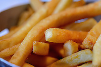 Freshly cooked French fries