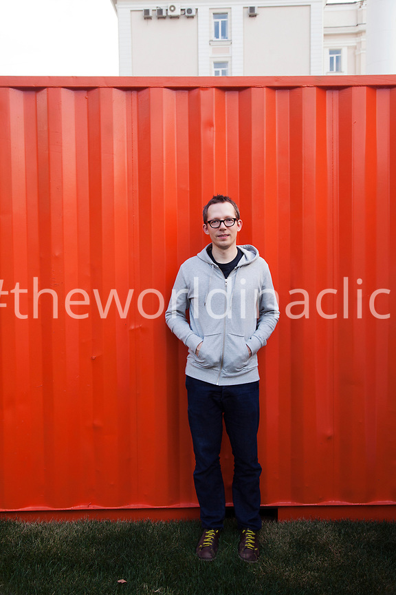 RUSSIA, Moscow. Portrait of Anton Belov, Direcor of Garage Museum of Contemporary Art.