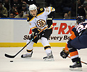 Jan 15, 2009; Uniondale, NY, USA; Boston Bruins leftwing Blake Wheeler (26) against New York Islanders at the Nassau Coliseum. Mandatory Credit: Tomasso DeRosa