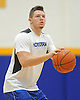 Hofstra University guard No. 14 Brian Bernardi squares to the hoop during an informal men's basketball team workout at the team's practice facility on Wednesday, July 22, 2015.<br /> <br /> James Escher