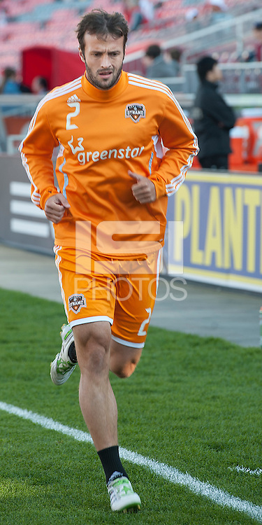 07 May 2011: Houston Dynamo defender Eddie Robinson #2 warms up during an MLS game between the Houston Dynamo and the Toronto FC at BMO Field in Toronto, Ontario..Toronto FC won 2-1.