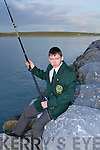 Luke M O.Sullivan out in Traing his fishing skills in Fenit on Monday evening..................................... .. .............................................................. ....................