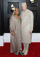 LOS ANGELES - JANUARY 26:  Geraldine Ross and Shaun Ross at the 62nd Annual Grammy Awards on January 26, 2020 in Los Angeles, California. (Photo by Xavier Collin/PictureGroup)