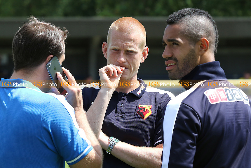 Ben Watson of Watford (centre) was named as a substitute - AFC Wimbledon vs Watford - Pre-Season Friendly Football Match at Kingsmeadow Stadium, Kingston upon Thames, Surrey - 11/07/15 - MANDATORY CREDIT: Paul Dennis/TGSPHOTO - Self billing applies where appropriate - contact@tgsphoto.co.uk - NO UNPAID USE