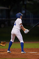 AZL Dodgers Mota Danny Sinatro (64) at bat during an Arizona League game against the AZL Rangers at Camelback Ranch on June 18, 2019 in Glendale, Arizona. AZL Dodgers Mota defeated AZL Rangers 13-4. (Zachary Lucy/Four Seam Images)