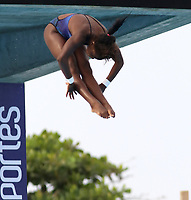 BARRANQUILLA - COLOMBIA, 22-07-2018: Competidora Anisley García de Cuba , modalidad 10m plataforma.Juegos Centroamericanos y del Caribe Barranquilla 2018. /Competitor Anisley García de Cuba, 10m platform platform of the Central American and Caribbean Sports Games Barranquilla 2018. Photo: VizzorImage /  Contribuidor