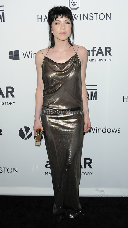 Carly Rae Jepsen arriving at Amfar's Inspiration Gala held at Milk Studios in Los Angeles, CA. October 29, 2015