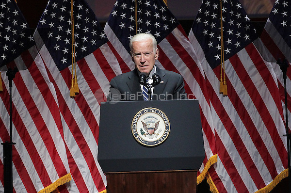 NEW YORK, NY - MAY 10: Joyful Heart Foundation honers the Vice President of The United States Joe Biden at David Geffen Hall, Lincoln Center on May 10, 2016 in New York City. Credit: Diego Corredor/Media Punch