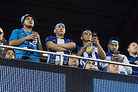 SAN JOSE, CA - March 24, 2017: Hounduras Soccer fans at the CONCACAF World Cup Qualifier game between the USA and Honduras at Avaya Stadium.