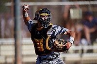 Jax Cash during the WWBA World Championship at the Roger Dean Complex on October 21, 2018 in Jupiter, Florida.  Jax Cash is a catcher from Spartanburg, South Carolina who attends IMG Academy and is committed to South Carolina.  (Mike Janes/Four Seam Images)