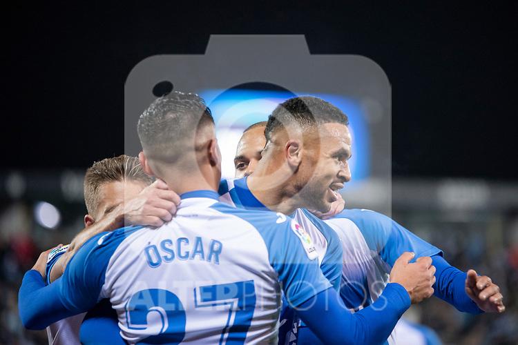 CD Leganes's  Youssef En-Nesyri, Oscar Rodriguez Arnaiz and Martin Braithwaite during La Liga match 2019/2020 round 16<br /> December 8, 2019. <br /> (ALTERPHOTOS/David Jar)