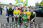Jonathan Lyons with Patrick O'Sullivan, Clodagh O'Sullivan, Jonathan Galvin, Sean Og O'Leary and Ruben James O'Leary from Farranfore at  the Kerry GAA Night of Champions at the Kingdom Greyhound Stadium on Friday