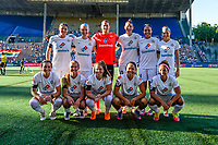 Seattle, WA - Friday June 23, 2017: FC Kansas City starting eleven during a regular season National Women's Soccer League  (NWSL) match between the Seattle Reign FC and FC Kansas City at Memorial Stadium.