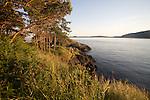 Sea kayak camping, Strawberry Island, San Juan Islands, Puget Sound, Salish Sea, Washington State, U.S.A., Washington State Department of Natural Resources, Cypress Island Natural Resources Conservation Area,