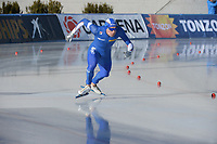 SPEED SKATING: COLLALBO: Arena Ritten, 11-01-2019, ISU European Speed Skating Championships, Mirko Giacomo Nenzi (ITA), ©photo Martin de Jong