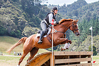 Rowan Dixon rides Volanti during the Cross Country for Class 2A NZPCA 95cm. 2019 NZL-Hunua Pony Club 2DE. Proudly Sponsored by Golden Horse Feeds and Christophe Pallies. Sunday 3 February. Copyright Photo: Libby Law Photography
