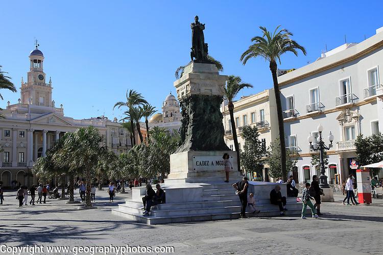 Ayuntamiento city hall building in Plaza de San Juan de Dios, Cadiz, Spain
