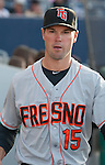 Former Ace Cole Gillespie now playing for the Fresno Grizzlies before their game on Friday night, April 26, 2013 in Reno, Nevada.