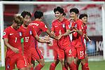 Korea Republic vs Saudi Arabia during the 2016 AFC U-19 Championship Group A match at Bahrain National Stadium on 19 October 2016, in Riffa, Bahrain. Photo by Jaffar Hasan / Lagardere Sports