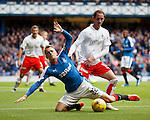 Mark Kerr brings down Dean Shiels