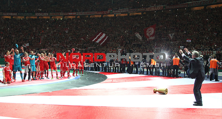 01.06.2013, Olympiastadion, Berlin,<br /> GER, DFB-Pokal, 1.FC Bayern M&uuml;nchen, VfB Stuttgart<br /> im Bild Cheftrainer Jupp Heynckes (FC Bayern Muenchen)<br /> <br /> <br /> <br /> Foto &copy; nph / Schulz