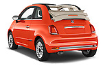 Car pictures of rear three quarter view of 2016 Fiat 500-C Lounge 2 Door Convertible Angular Rear