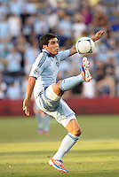 Soony Saad (22) forward Sporting KC in action..Sporting Kansas City were defeated 3-0 by Montpellier HSC in an international friendly at LIVESTRONG Sporting Park, Kansas City, KS..