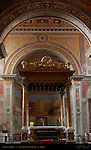 Baldachino Chi-Rho symbol High Altar Apse San Nicola in Carcere Rome