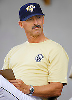 "7 November 2007: Florida International University Head Baseball Coach Henry ""Turtle"" Thomas observes his players during an inter-squad scrimmage at University Park Stadium in Miami, Florida."
