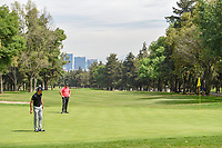 Billy Horschel (USA) watches his long putt on 16 during round 3 of the World Golf Championships, Mexico, Club De Golf Chapultepec, Mexico City, Mexico. 2/23/2019.<br /> Picture: Golffile | Ken Murray<br /> <br /> <br /> All photo usage must carry mandatory copyright credit (© Golffile | Ken Murray)