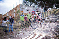 Chelva, SPAIN - MARCH 6: Carlos Cavero during Spanish Open BTT XCO on March 6, 2016 in Chelva, Spain