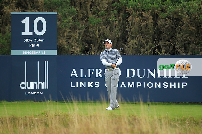 Darren Fichardt (RSA) during Round 2 of the Alfred Dunhill Links Championship at Kingsbarns Golf Club on Friday 27th September 2013.<br /> Picture:  Thos Caffrey / www.golffile.ie