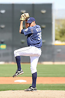 James Needy, San Diego Padres minor league spring training..Photo by:  Bill Mitchell/Four Seam Images.