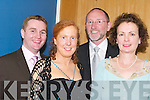 SOCIAL: Having a great time at the Pioneers Annual Social at Ballyroe Heights Hotel, Tralee, on Saturday night, l-r: Seamus and Teresa Murphy (Fenit) and Billy and Sheila Ryle (Spa)..